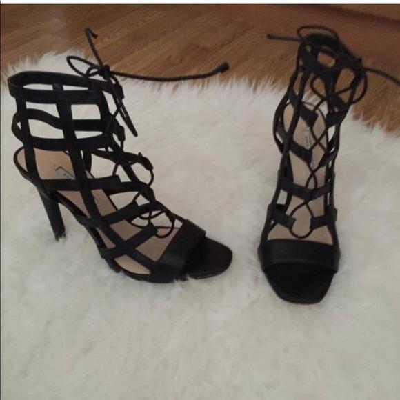 38fff6cd61d Zara caged heels. M 5aa7ff608df4703ee2e6cbce